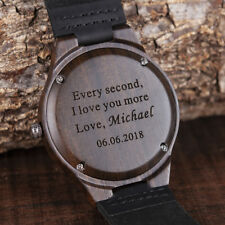 Engraved Wood Watches Personalized Watch Father's Gift Anniversary Gift for Him