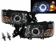 Forester SG MK2 03-04 Guide LED Angel-Eye Projector Headlight BK for SUBARU RHD