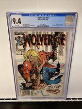 Wolverine 10 CGC 9.4 Newsstand Edition