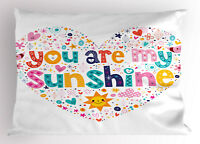 Cartoon Pillow Sham For Kids Heart Shaped King Size Pillowcase 36 x 20 Inches