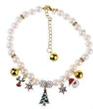 Holiday Pearl Dog Charm Collar Christmas Tree Santa Bells Pig Cat Duck Medium