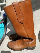 OLATHE STOVE PIPE MENS 17' TALL LEATHER  COWBOY,WORK, MOTORCYCLE BOOTS SZ 7.5 EE