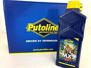 Putoline MX7 Fully Synthetic 2 Stroke Motocross Motor Bike Pre Mix Oil - 1 Litre