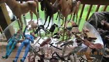 Johnny West Lot Marx Figures 3 Horses, Accessories + Spare Parts