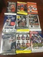 2017 FOOTBALL (9 DIFFERENT PACKS) LOT + PATRICK MAHOMES ONLY 2000 MADE ROOKIE RC