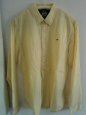 """""""Hilfiger Denim"""", Herren - Oberhemd, gelb m. weißen Streifen, Gr. XL, Baumwolle"""