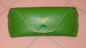 Vintage Kate Spade Eyeglasses Hard Case Lime Brite Green Gold Letters New York