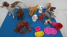 MEG PUPPY IN MY POCKET DOG FAMILY 1994 MATTEL DOG CAT FLOCKED DOGS & MORE