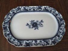 """Brownfield & Sons Berne Flow Blue transferware Oval Platter 18 1/2"""" Wow!"""