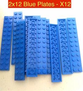 Lego 2x12 Blue Plate Plates Building Parts