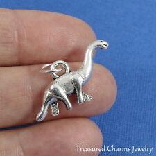 Silver Brontosaurus Dinosaur Prehistoric Charm Pendant *New*