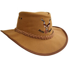 Canvas Hat Cowboy/Outback/Aussie Style Finest Kudu Hand Crafted South Africa