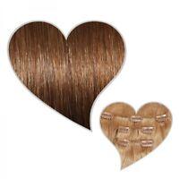 Clip-In-Extensions 60 cm 130 Gramm goldbraun #07 Remy Echthaar Set Haartressen