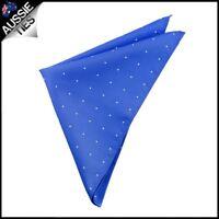 Royal Blue Pin Dot Pocket Square Handkerchief hanky