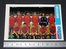 BELGIQUE DIABLES ROUGES FICHE ONZE MONDIAL COUPE MONDE FOOTBALL ITALIA 90 1990