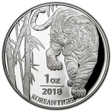 2018 South Korea 1 oz Silver Tiger Coin GEM BU PRESALE SKU53031
