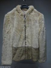 Zara Zip Hip Length Faux Fur Coats & Jackets for Women