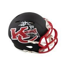Travis Kelce Autographed Kansas City Chiefs AMP Mini Football Helmet - BAS COA