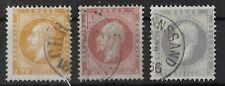 NORWAY 1856 Used Set of 3 Stamps Yvert #2-3 & 5 CV €350