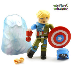 Marvel Minimates Captain America through the Ages Suspended Animation Cap in Ice