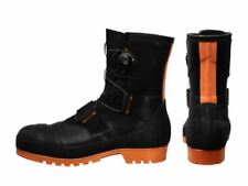 SHIBATA Rubber safety boots 27.0 cm SB3004 Black and Orange