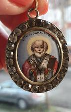 RUSSIAN, IMPERIAL SILVER 84, ST.NIKOLAS CHRISTIAN ORTHODOX PENDANT/ AMULET