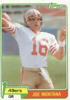 Topps 1981 Joe Montana Rookie Card #216 San Francisco 49ers RC