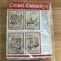 Bucilla Crewel Embroidery Colonial America Picture Kit 1997 Olde Philadelphia