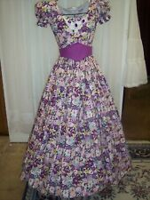 Civil War/Victorian Era Ball Gown of Plum coloring, with Jeweling at the Necklin