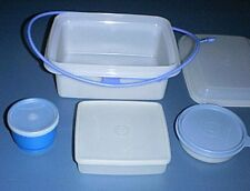 Tupperware NEW Pak-N-Carry #1254 Lunch Box, Handle, Sandwich Keeper & Snack Cups