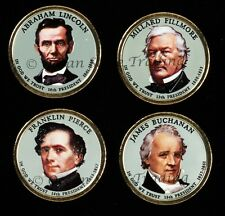 2010 Colorized Set Of President Dollar Coins - D Mint (Colorized Head Only)