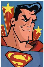 Animated SUPERMAN PRINT HAND SIGNED Jorge Baeza Man of Steel