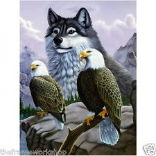 NEW ANNE STOKES SOUL BOND WOLF 3D MOVING PICTURE 300mm X 400mm