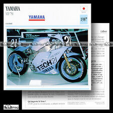 #050.13 YAMAHA YZF 750 1987 (TECH 21 SHISEIDO) Fiche Moto Motorcycle Card