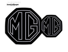 MG ZS LE500 MK2 Front & Rear Insert Badge Logo Set 59mm/95mm Styled Silver/Black