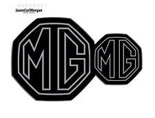 Mg Zs Le500 Mk2 Delantero Y Trasero insertar insignia con el logotipo conjunto 59mm/95mm Estilo Plateado/negro
