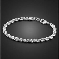 Hot FREE P&P 925 Silver Jewelry Fashion Fine Bracelets fits party xmas gift