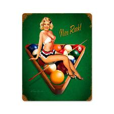Nice Rack Pool Billard Poolbillard Pin Up Art Retro Sign Blechschild Schild NEU