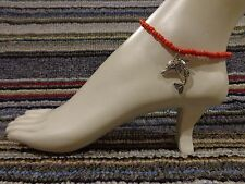 bracelet beads anklet stretchy beach Dolphin silver tibet alloy charm ankle