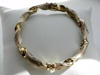 ✨SUPERB✨ 11g sterling silver Italy fully HM gold wash textured twisted bracelet