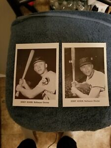 VINTAGE 1950s/60s JAY PUBLISHING JERRY ADAIR ORIOLES  LOT (2) NM      GROBEE1957