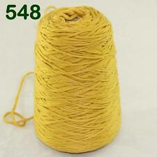 Sale New 1Cone 400g Soft Worsted Cotton Chunky Super Bulky Hand Knitting Yarn 48