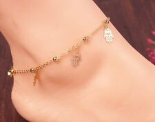 Fashion Beach Anklet Barefoot Toe Chain Link Foot Chain Palm Chic Jewelry Af