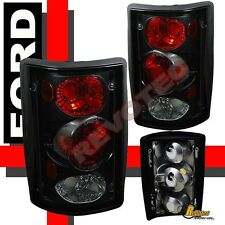 95-06 Ford Econoline E150 E250 E350 00-06 Excursion Black Tail Lights Lamps