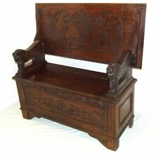 Oak Art Deco Original Victorian Benches & Stools (1837-1901)