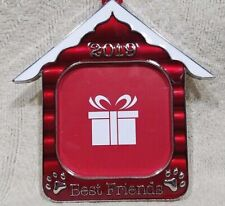 Dog House Christmas Tree Ornament Photo Picture Frame Hanger 2019 Best Friends