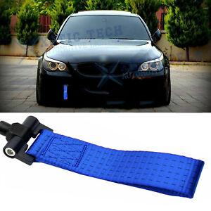 Racing Tow Strap Hook Blue For BMW Exx 1/3/5/6/X5/X6 Z3 Z4 Series 1996-2012