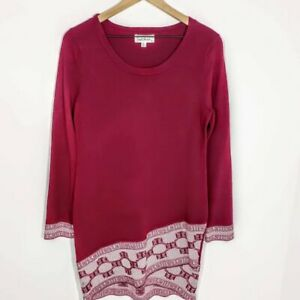 Cloud Chaser Cranberry/White Sweater Dress Size XL
