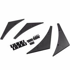 Universal Fit Front Bumper Lip Splitter Fins Body Spoiler Canards Valence Chin