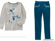 GYMBOREE Butterfly Garden Corduroy Pants  And Warm  Top Outfit  NEW SIZE 5